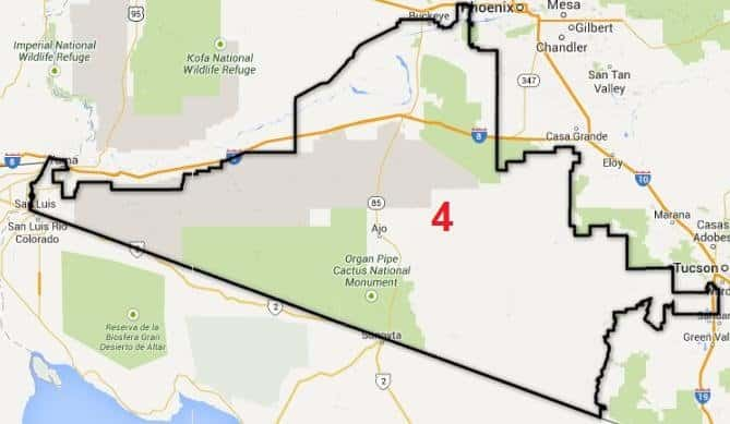 Map Of Arizona Voting Districts.Legislative District 4 Pima County Democratic Party