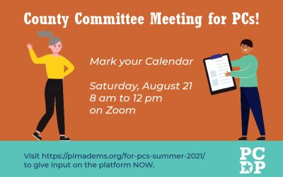 Attention PCs! Upcoming Committee Meeting
