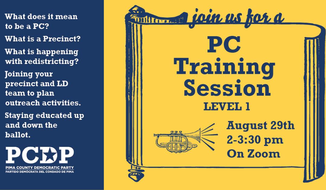 PC Virtual Training Session: Level One