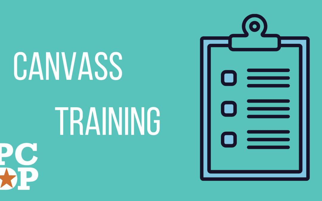 Canvass (Virtual) Training